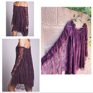 FREE PEOPLE NWOT Angel Lace Off The Shoulder Dress
